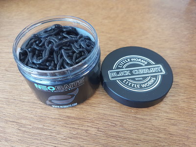 Neo Baits Black currant littlen worms.