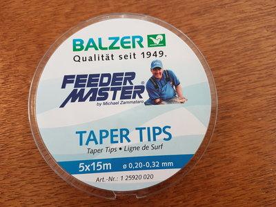 Zammataro feeder master taper tips 5x15m